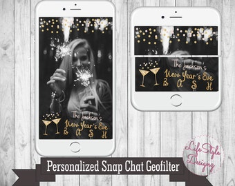 Snapchat GeoFilter - New Years Eve Party - New Years Snapchat Filter - Happy New Year - Snap Chat Filter - Snapchat Party FIlter