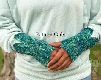 Crochet Pattern, Fairy Tale Fingerless Gloves