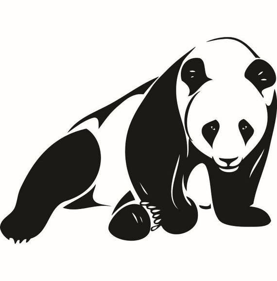 panda bear 2 baby newborn cute smile china animal zoo logo svg eps png digital clipart vector cricut cut cutting download printable file from