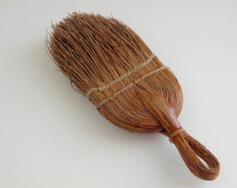 Vintage DONAX Early 1900s Old Straw Palmetto Vintage Whisk Brush Broom Hand Brush Bristle Hanging Hand Broom Donax Domestic Brush Farmhouse