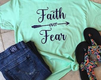 Faith over Fear vinyl shirt
