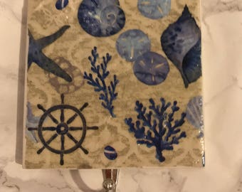 Nautical Ceramic Tile Wall Key Holder