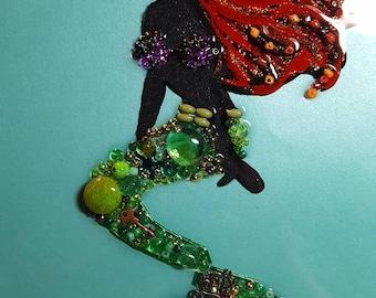 disney little mermaid beaded picture
