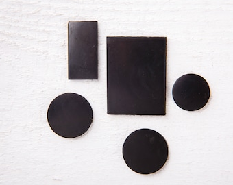 Shungite Tile Set for Electronics 5 pcs, Polished Plate, Shungite Tile, Unic Karelian Shungite, EMF protection, Reiki Practice, Root Chakra