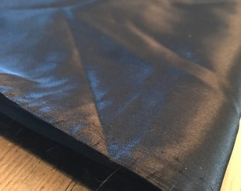 Black Satin Fabric Remnant