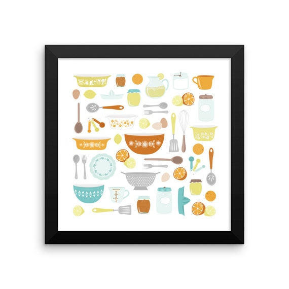 Citrus Kitchen Framed Poster