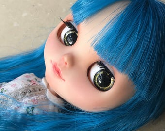 "OOAK SA Hand-painted Handmade 12""Blythe custom eye chips - G1712091"