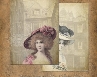 Vintage London Vistas Large Prints Instant Digital Download