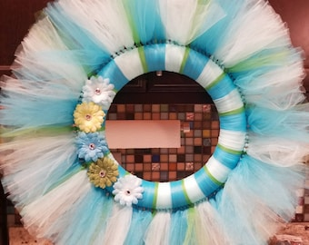 Blue spring wreath