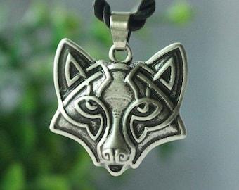 Antique Slavic Fox Pendant Necklace
