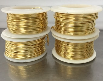 Gold Plated Wire, Non Tarnish Wire, 24 gauge wire, 26 gauge wire,22 gauge wire,18 gauge wire,non tarnish gold plated wire,electroplated wire