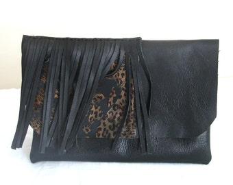 Mode- handmade leather Clutch