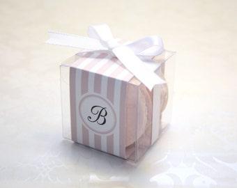 French Macaron Boxes, Pastel, Elegant Favor Boxes - 24 Favor Boxes