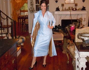 Princess Coat,Wedding Coat Opera Coat,Swing Coat,Hour Glass,Long Maxi Coat,Satin & Silk Coat,Retro Style, Renaissance
