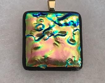 Fun Colored Fused Glass Pendant