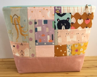 LARGE Project Bag | Patchwork Fairy Tales