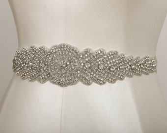 Deborah Crystal Beaded Bridal Sash