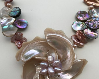 Abalone Shell Necklace with Handmade Shell Pendant