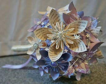 Paper Wedding Bouquets, flower girls, bridesmaids, buttonholes. Unique and personalised **Offer!! - 1/2 Price Bridal Bouquet**