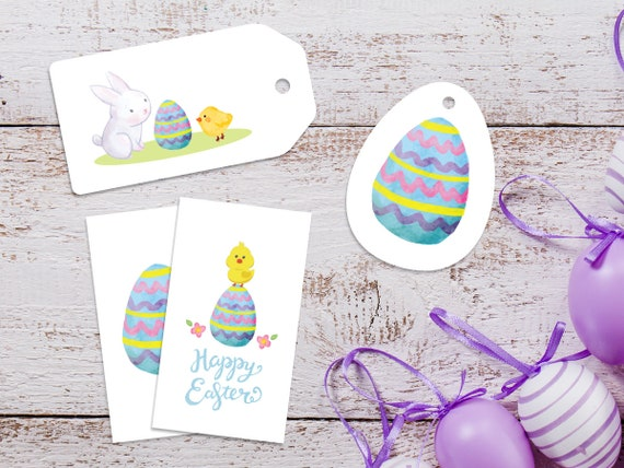 Easter labels easter gift tags easter egg print easter negle Image collections