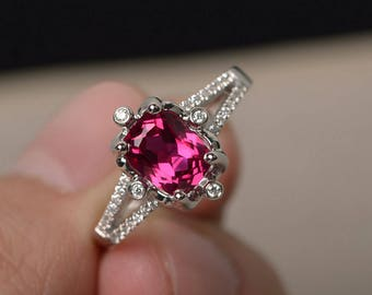Ruby wedding ring Etsy