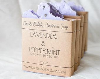 Handmade Soap - Lavender & Peppermint
