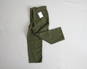 50s wool army trousers | army pants | 1950s military clothing