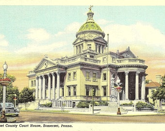 Somerset, Pennsylvania, Somerset County, Court House - Vintage Postcard - Postcard - Unused (S)