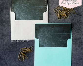 Printed Matching Envelope Liner | A2 Sized Liner | Chalkboard Wedding Liner | Unique Way To Ask Your Best Friend | Pretty Liner for Envelope
