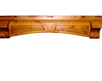Knotty Alder Mantel Shelf