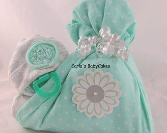 Stork bundle baby | Girl diaper cake | Baby diaper cake | Baby shower gift | Baby sprinkle gift | New mom gift | Baby shower decoration