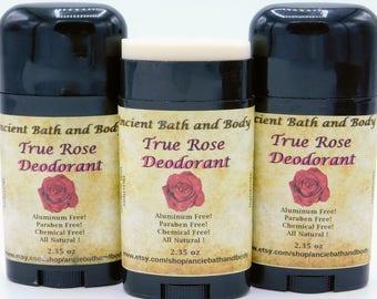 True Rose Deodorant, Natural Deodorant, Aluminum Free Deodorant, Chemical Free Deodorant