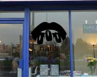 Wall Decal Nail Salon Art Beauty Salon Nail Stylist Nail Art Polish Manicure Woman Gift 1294t