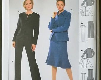 Burda 8390 Uncut Sewing Pattern - Jackets, Pants, Skirt, Sizes 10-20