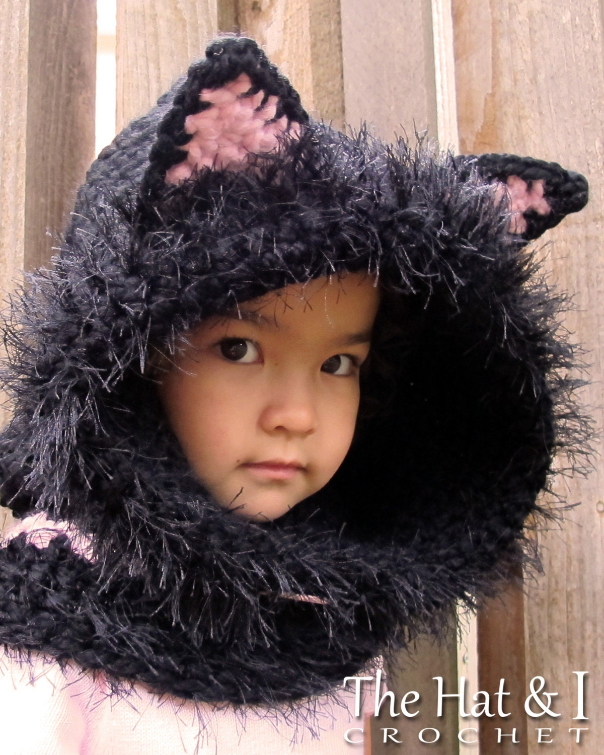 CROCHET PATTERN - The Cat\'s Meow - chunky crochet hooded cowl ...