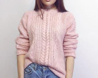 knitted sweater, handmade