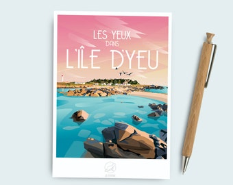 The island of Yeu postcard card