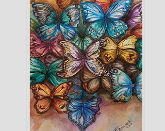 Butterflies - original watercolor painting