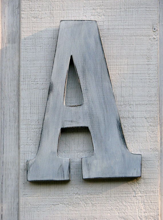 distressed wood letters rustic wooden letter a distressed painted white18 21380 | il 570xN.345076870
