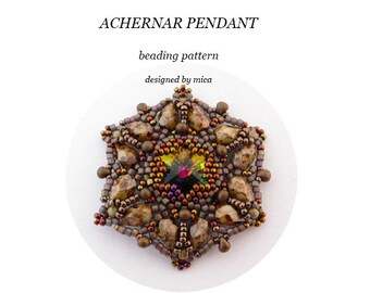 Achernar Pendant - Beading Pattern/Tutorial - PDF file for personal use only