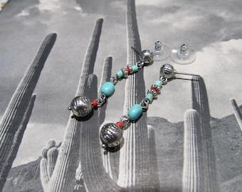 Ralph Lauren desinger southwest turquoise dangle earrings 17f10