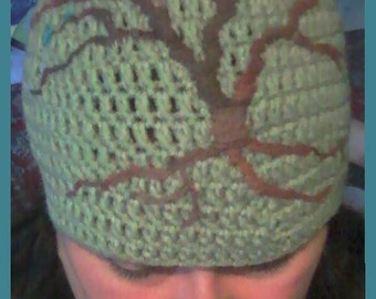 Tree of Life Beanie with blooms
