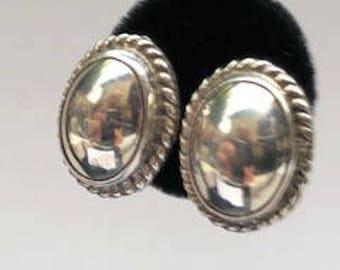 Oval STERLING SILVER Earrings