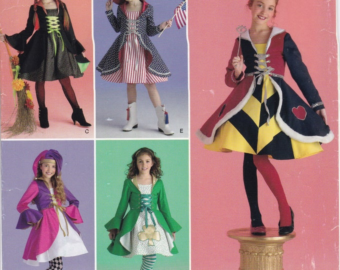 FREE US SHIP Alice In Wonderland Girl's Halloween Costume Simplicity 0416 2834 Pinafore Apron Dress New Mad Hatter 7/14 New 2010