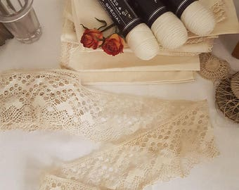 Vintage French Crochet Lace Trim - 5.5 metres