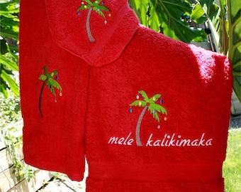 Mele Kalikimaka Towel Set 3 Pcs