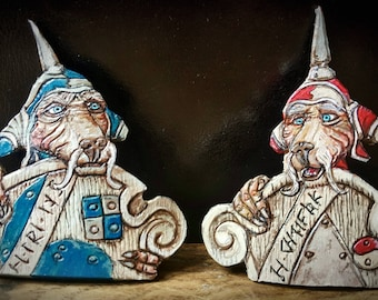 Labyrinth Inspired Door Guards Leather Brooches