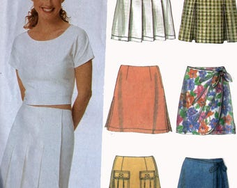 6 Misses Skorts Skirts Shorts Sewing Pattern Simplicity 5173 Easy Pattern Size 12-16 UNCUT