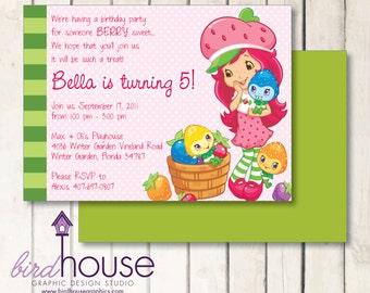 Strawberry Shortcake Birthday Invitation Printable