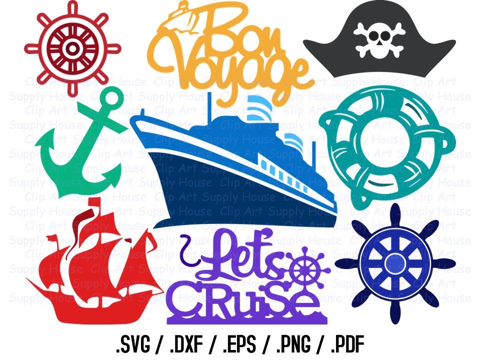 Cruise Ship Svg Files Cruise Clipart Cruise Boat Svg Use - Cruise ship centerpieces